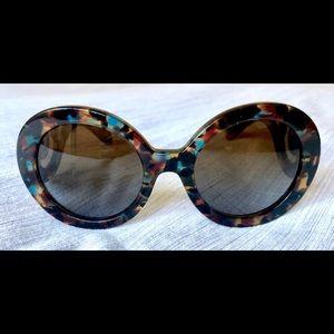 Prada Round Tortoise Sunglasses